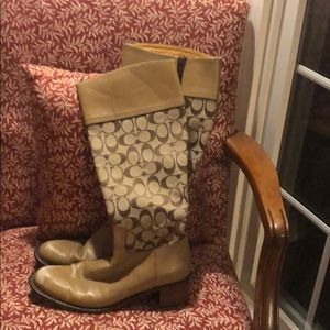 Pair of Authentic coach boots